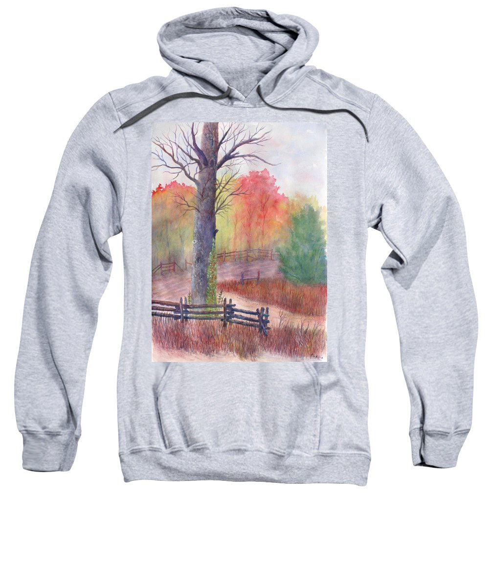 Fall Sweatshirt featuring the painting Joy of Fall by Ben Kiger
