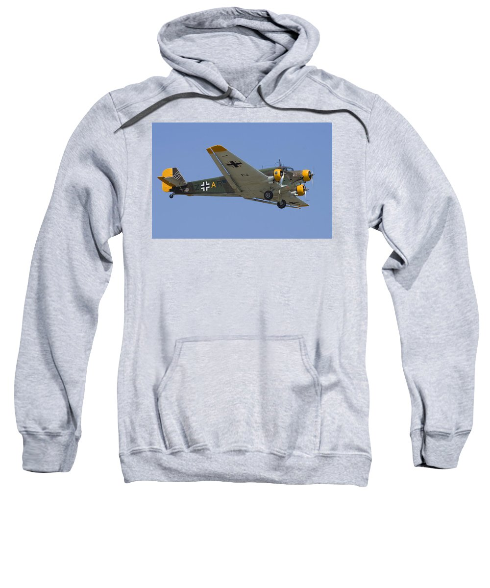 3scape Sweatshirt featuring the photograph Junkers Ju-52 by Adam Romanowicz
