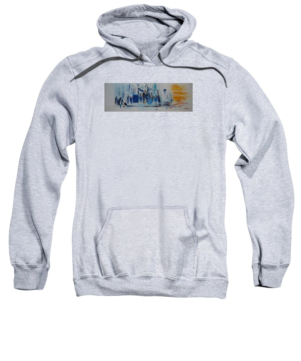 Jack Diamond Art Sweatshirt featuring the painting Just Another Day In New York City by Jack Diamond