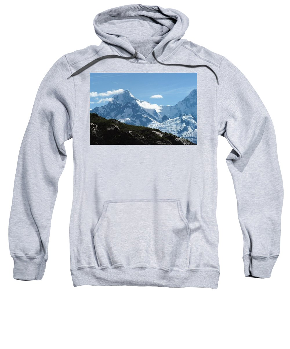 Alaska Sweatshirt featuring the photograph Just Another Snow-capped Mt by Joseph Yarbrough