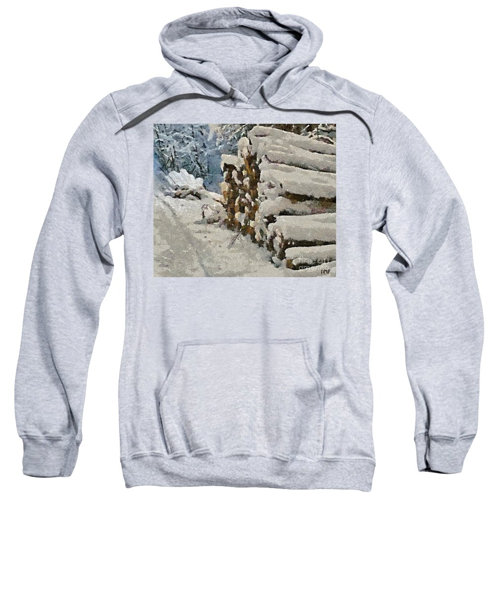 Firewood Sweatshirt featuring the painting Just In Case by Dragica Micki Fortuna