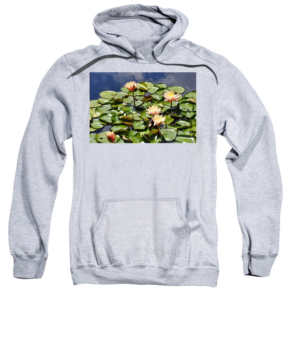 Lily Pad Sweatshirt featuring the photograph Just Peachy by Christina McKinney
