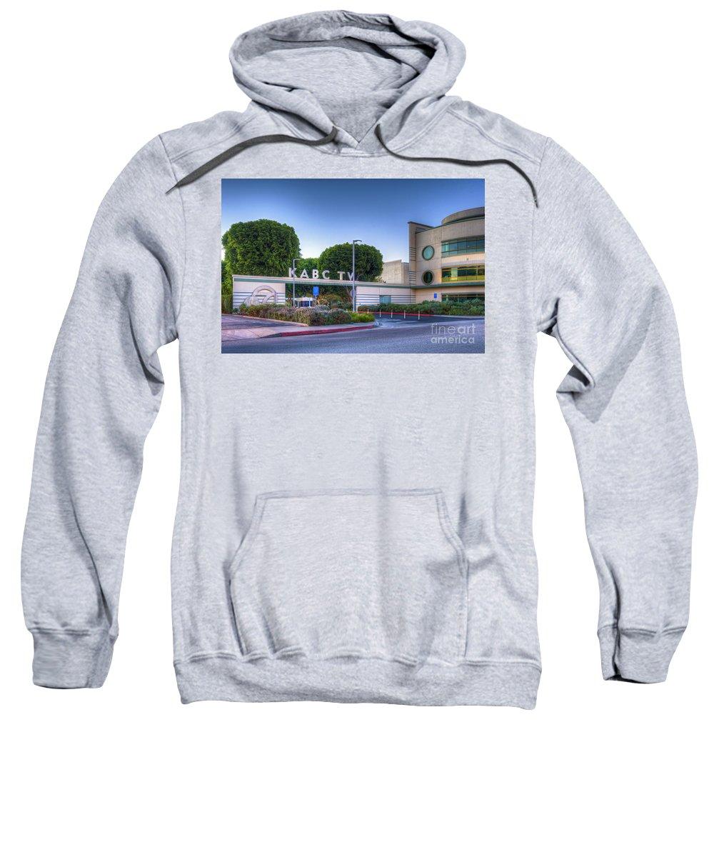Kabc 7 Sweatshirt featuring the photograph Kabc 7 Studio Burbank Glendale Ca by David Zanzinger
