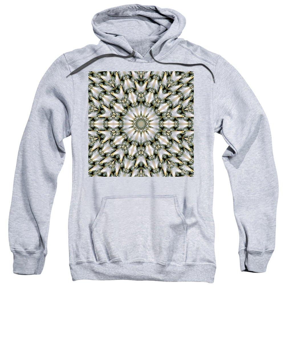 Kaleidoscope Sweatshirt featuring the digital art Kaleidoscope 28 by Ron Bissett