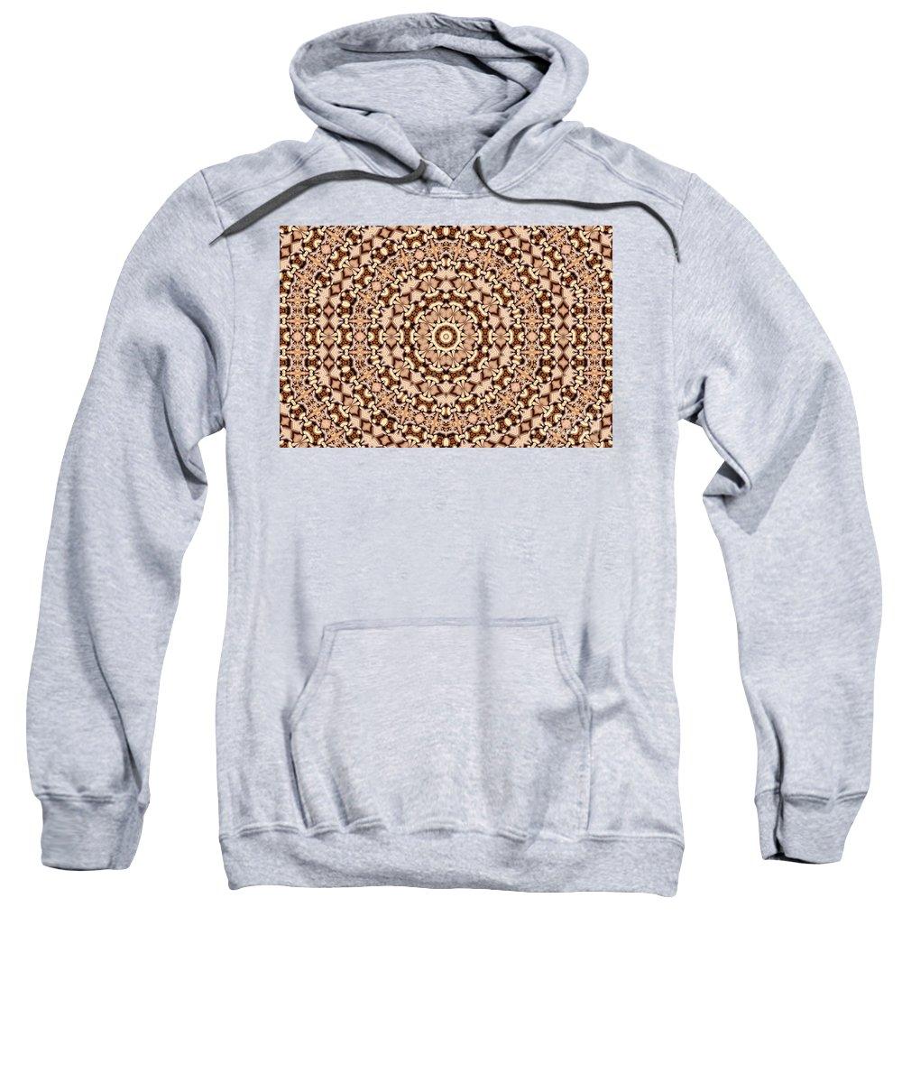 Kaleidoscope Sweatshirt featuring the digital art Kaleidoscope 30 by Ron Bissett