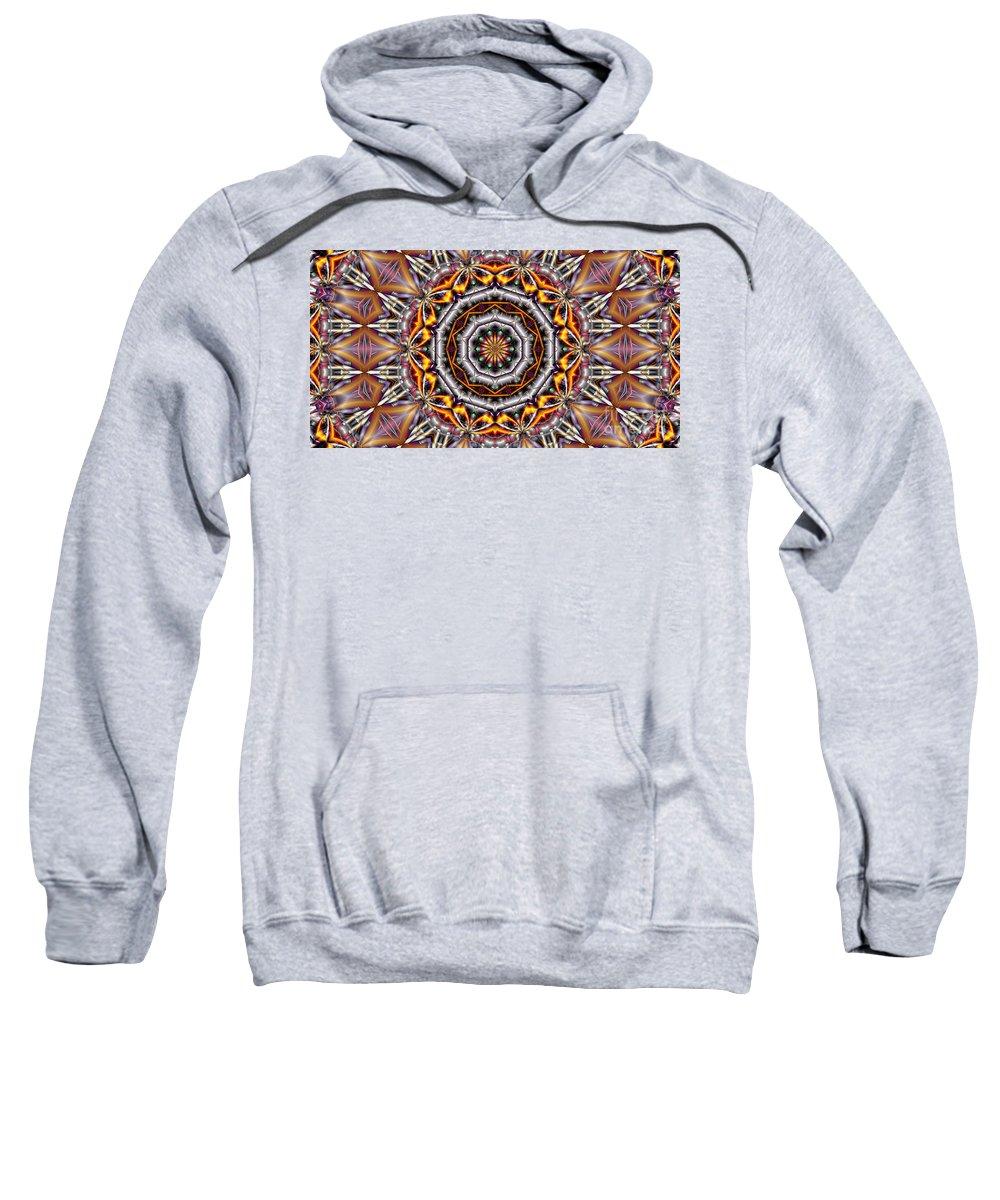 Kaleidoscope Sweatshirt featuring the digital art Kaleidoscope 41 by Ron Bissett