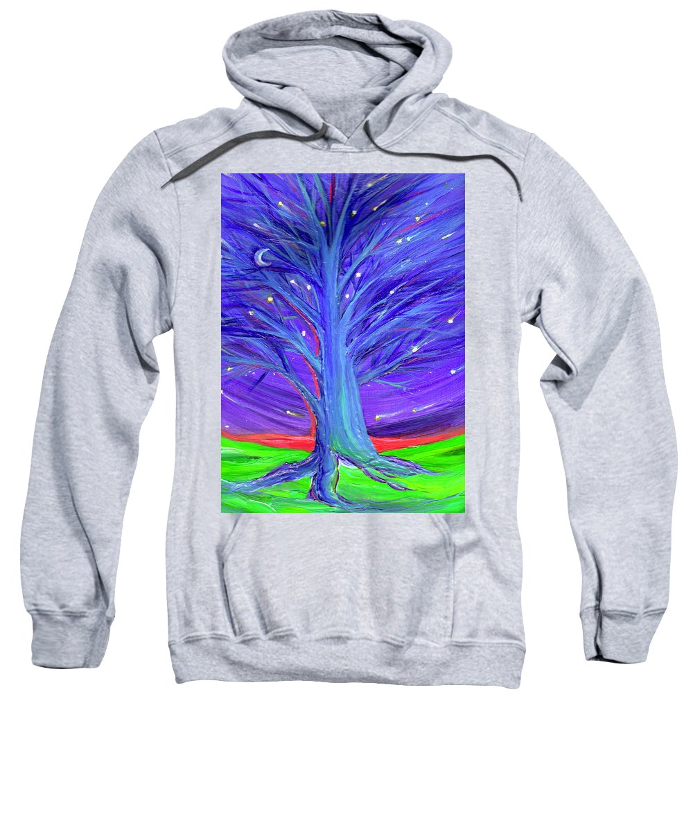 First Star Sweatshirt featuring the digital art Karen's Tree 1 by First Star Art