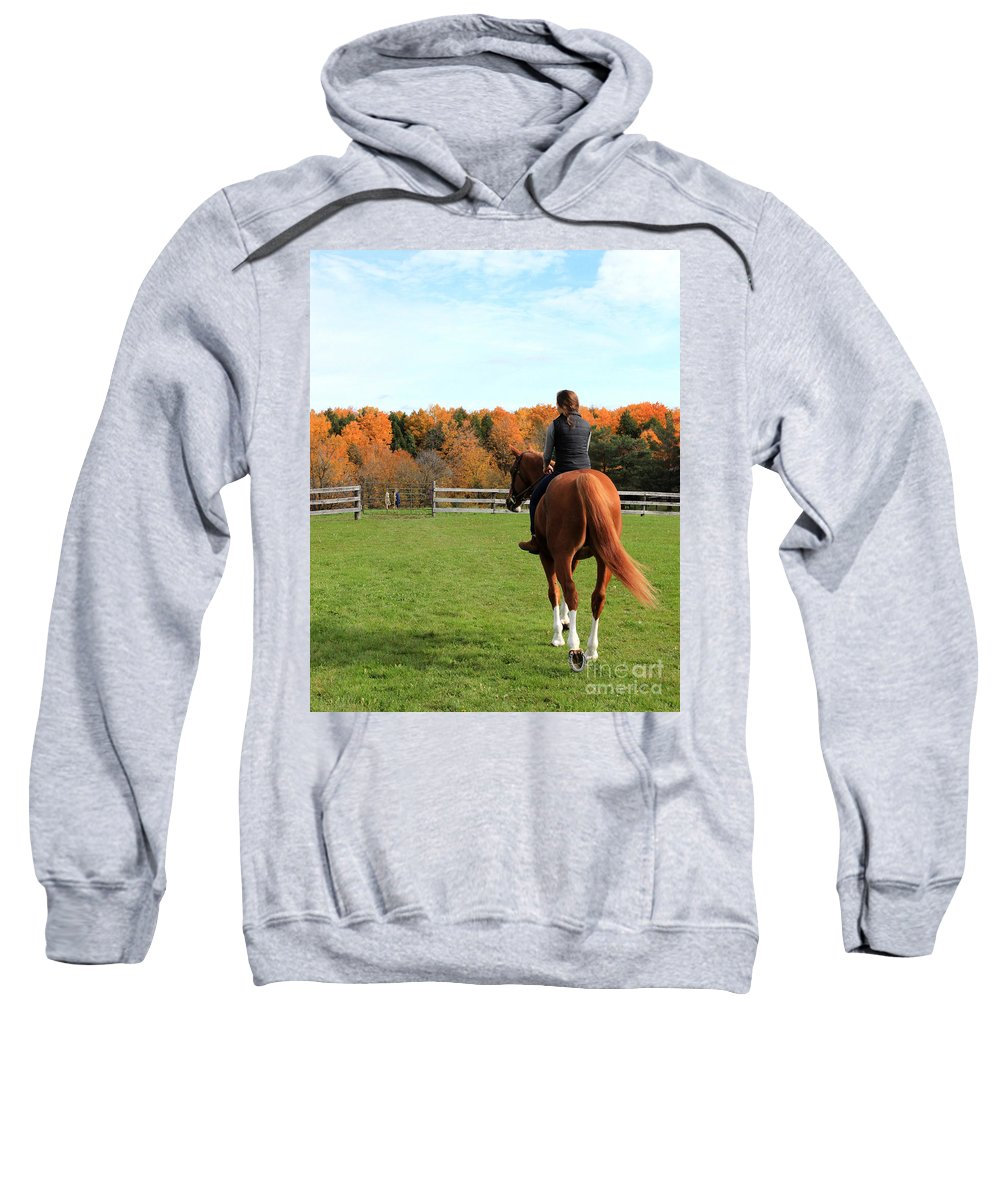 Sweatshirt featuring the photograph Katherine Pal 25 by Life With Horses