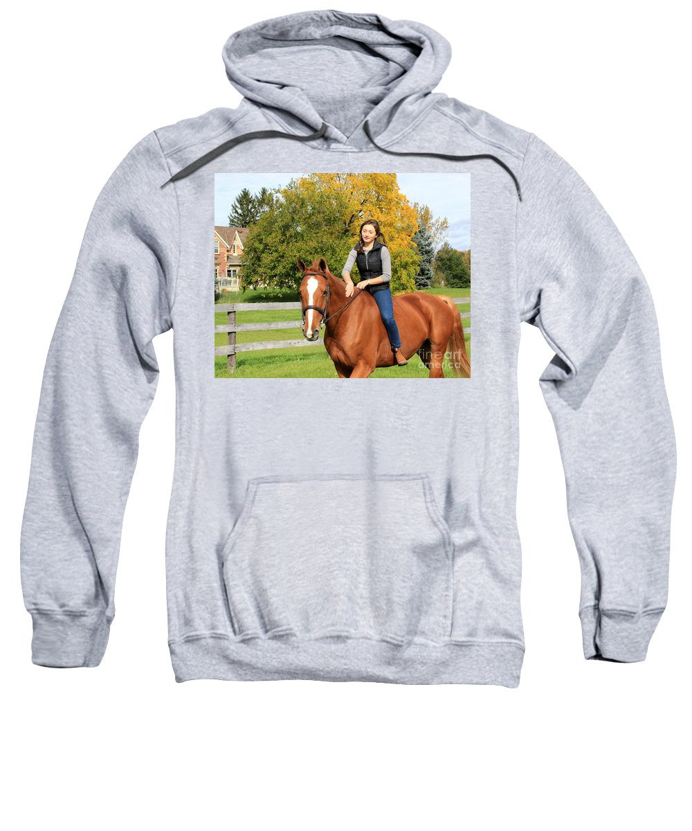 Sweatshirt featuring the photograph Katherine Pal by Life With Horses