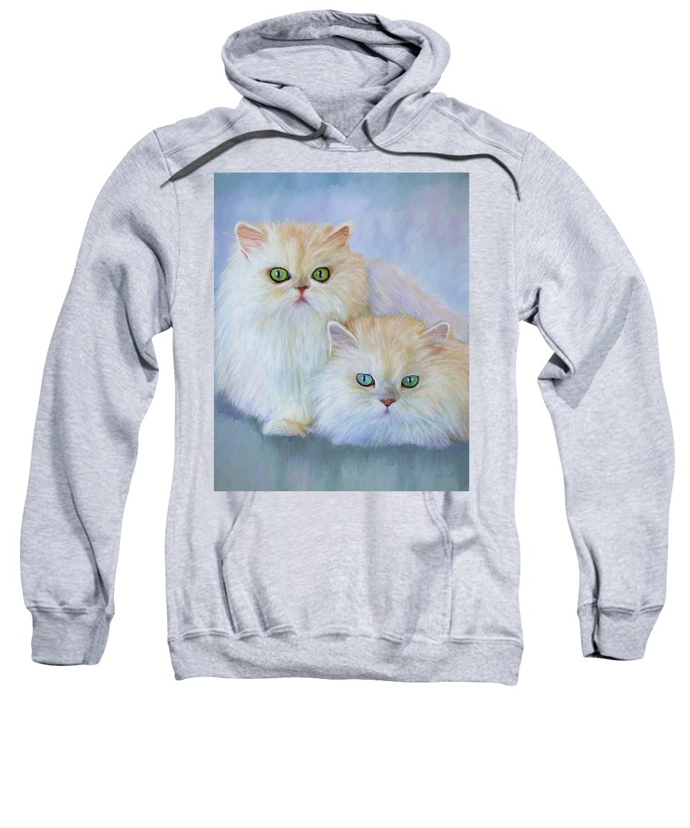 Cat Sweatshirt featuring the painting Katrina And Bjorn by David Wagner
