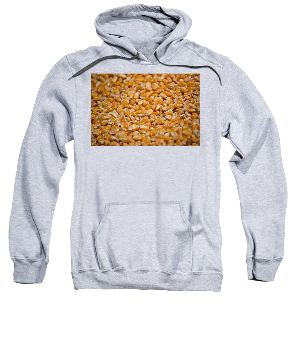 Corn Sweatshirt featuring the photograph Kernels Galore by Tara Potts