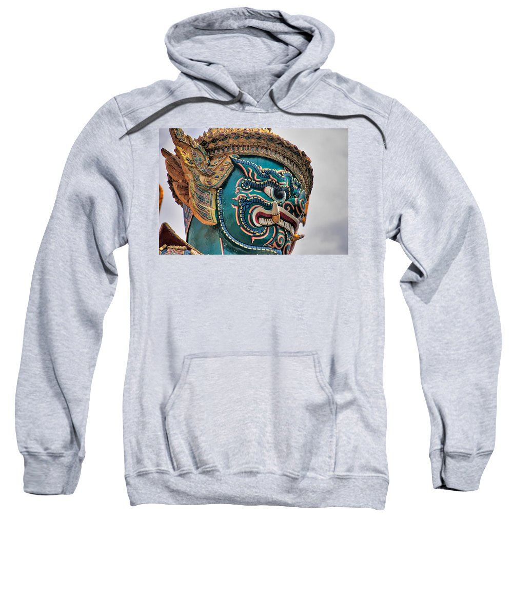 3scape Sweatshirt featuring the photograph Khmer Guard by Adam Romanowicz