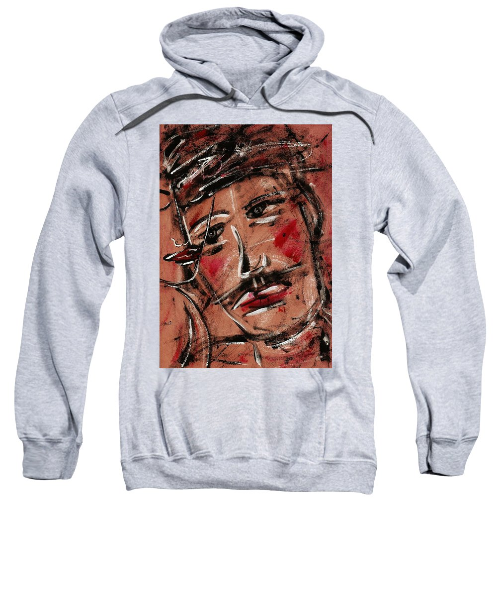 Faces Sweatshirt featuring the painting Kind Man by Natalie Holland