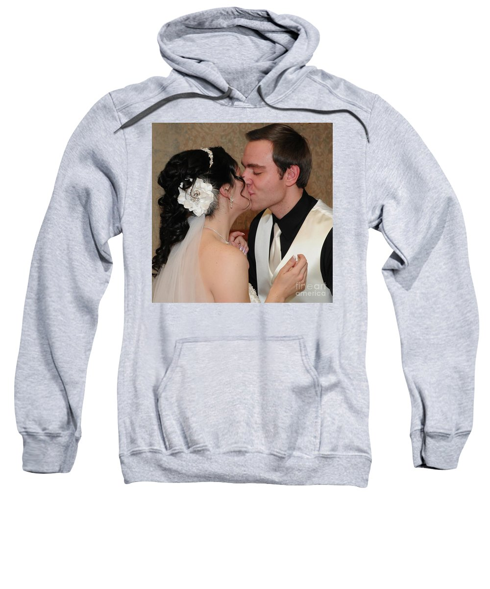 Bride Sweatshirt featuring the photograph Kiss by Kathleen Struckle