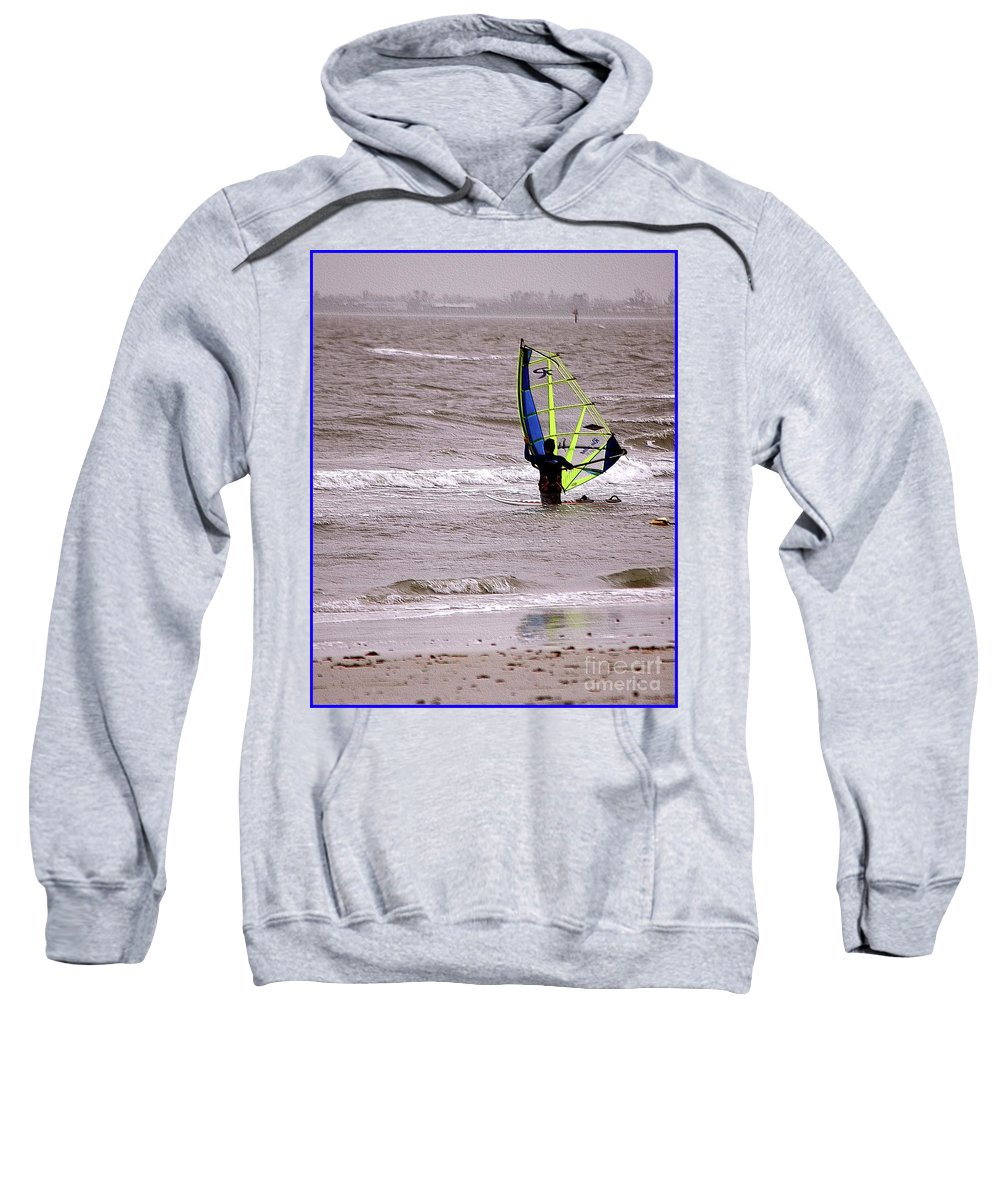 Kite Sweatshirt featuring the photograph Kite Surfing by Kathleen Struckle