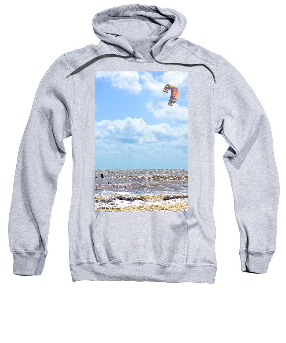 Wind Surfing Sweatshirt featuring the photograph Kite Surfing by Tara Potts