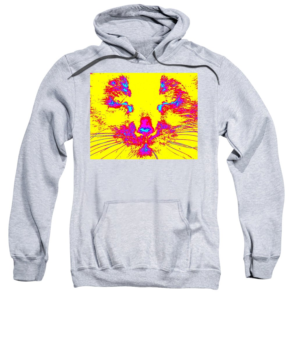 Cat Sweatshirt featuring the photograph Kitty by Larry Ward
