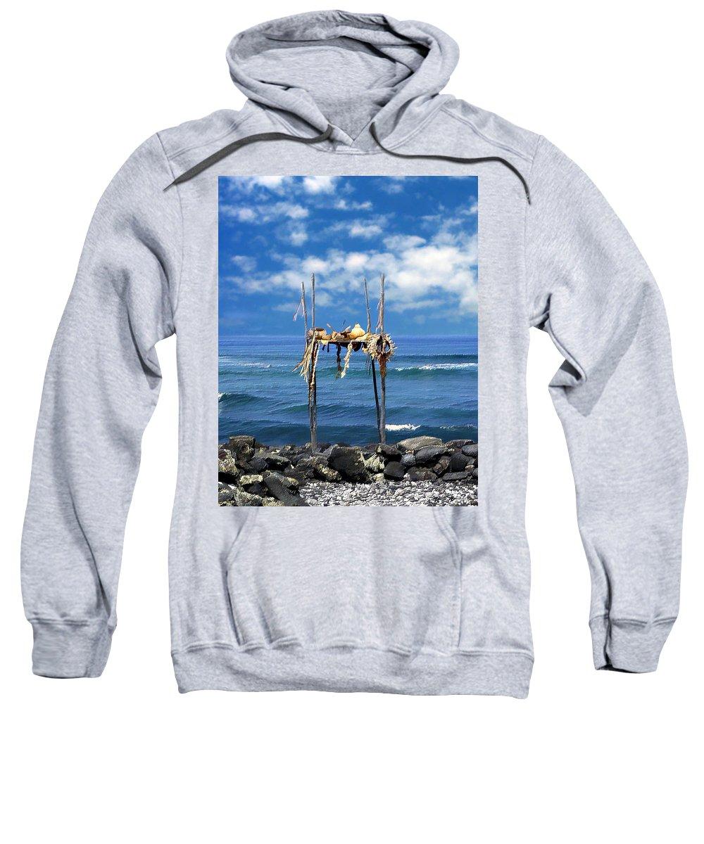Hawaii Sweatshirt featuring the photograph Ku Emanu Heiau Kona by Kurt Van Wagner