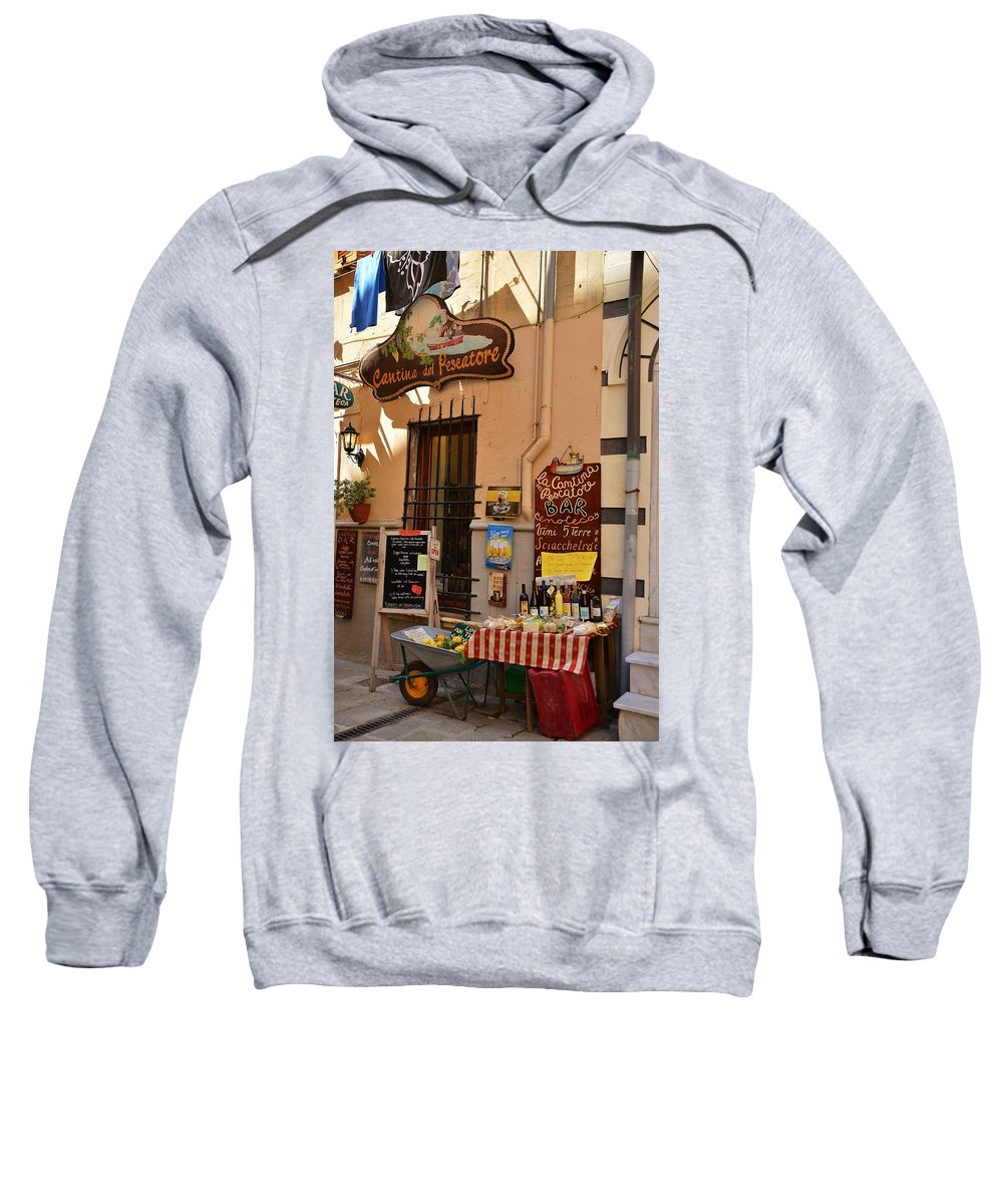 Italy Sweatshirt featuring the photograph La Cantina Del Pescatore by Dany Lison