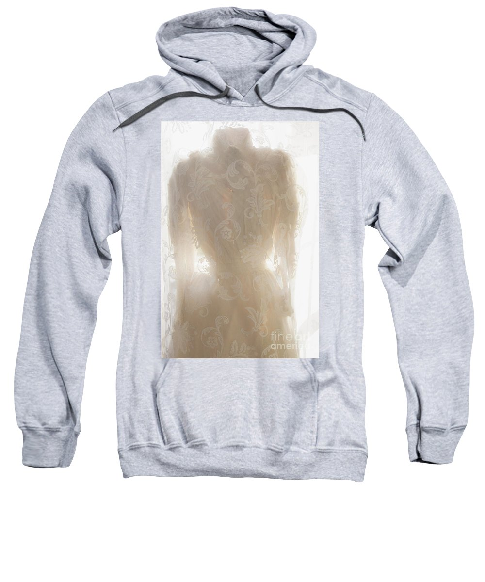 Antique Sweatshirt featuring the photograph Lace Upon Lace by Margie Hurwich