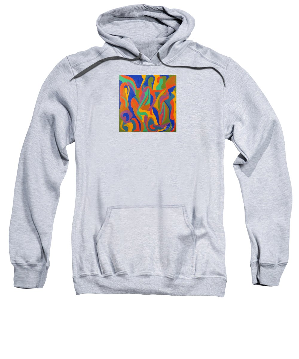 Lady From Bahia Sweatshirt featuring the painting Lady From Bahia by Eunice Broderick