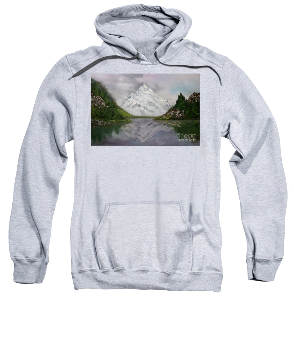 Lake Como Sweatshirt featuring the painting Lake Como Italy by Jean Walker