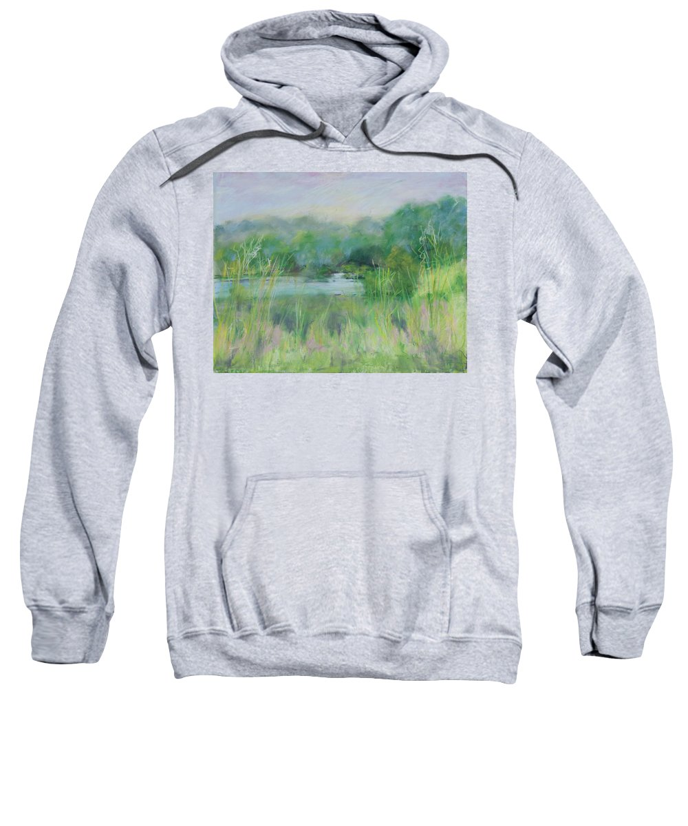 Landscapes Sweatshirt featuring the painting Lake Isaac Impressions by Lee Beuther