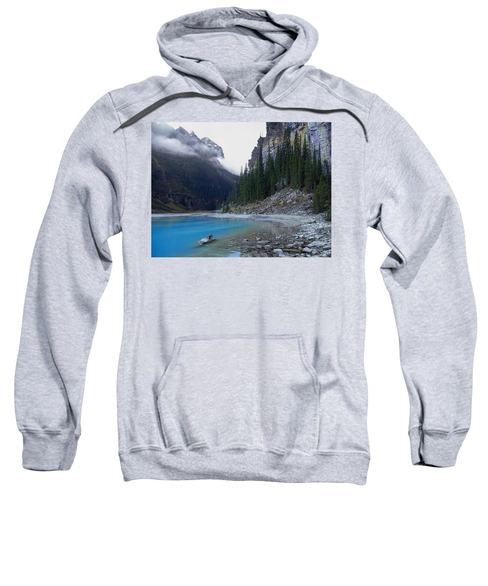 lake Louise Sweatshirt featuring the photograph Lake Louise North Shore - Canada Rockies by Daniel Hagerman