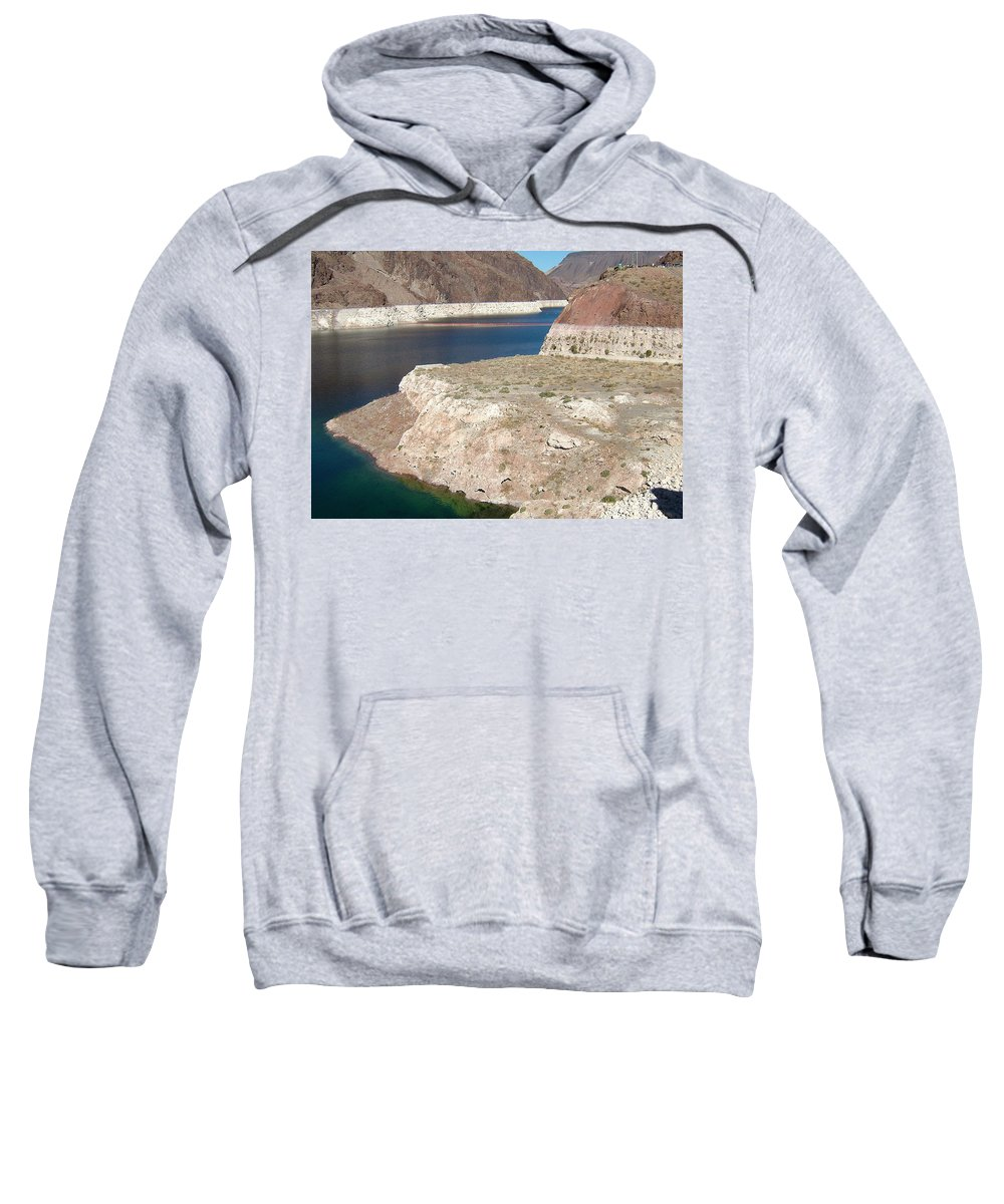 Lake Mead Sweatshirt featuring the photograph Lake Mead In 2000 by Susan Wyman