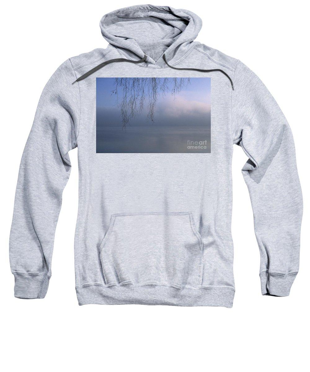 Tree Sweatshirt featuring the photograph Lake Stillness by Jim Corwin
