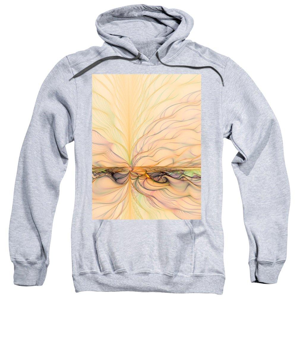 Abstract Sweatshirt featuring the digital art Landscape Of Fantasy by Gabiw Art
