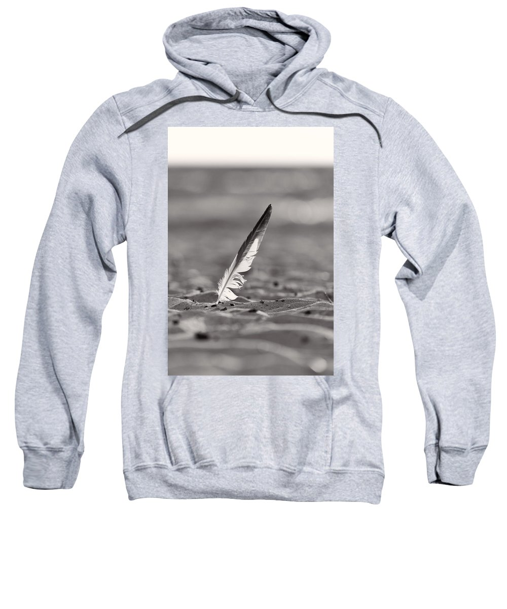 Clouds Sweatshirt featuring the photograph Last Days Of Summer In Black And White by Sebastian Musial