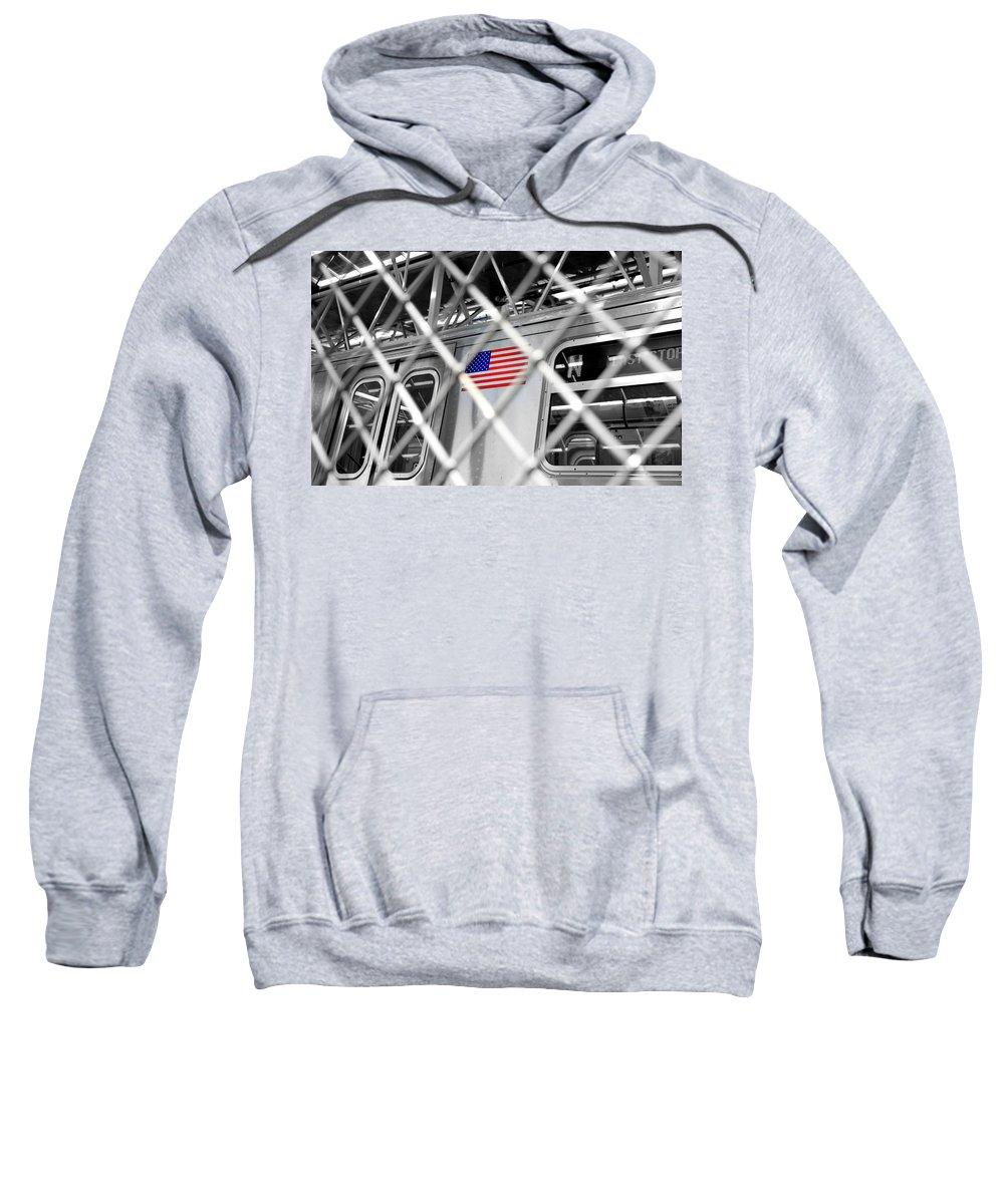 Last Sweatshirt featuring the photograph Last Stop Coney Island by Valentino Visentini