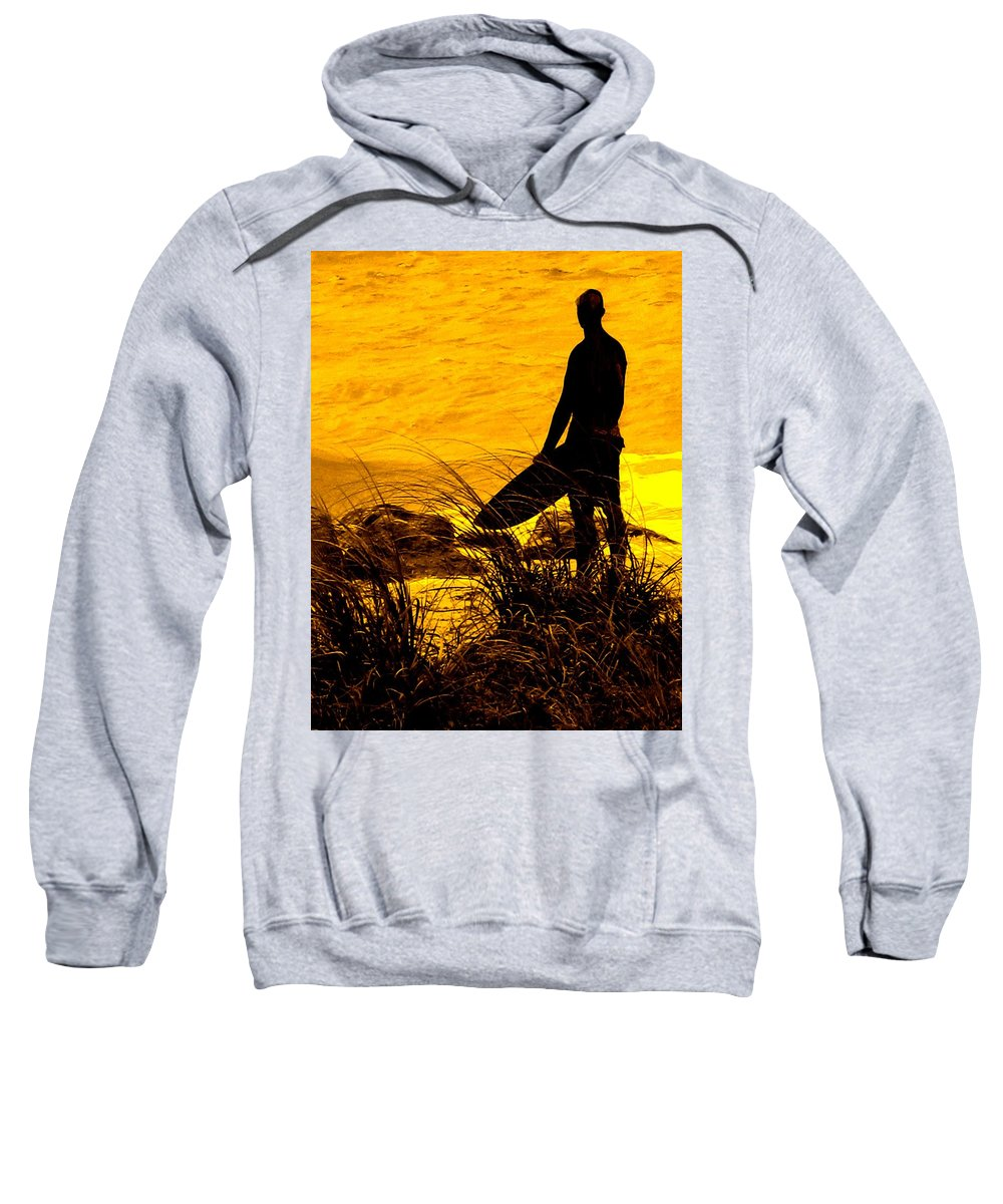 Florida Sweatshirt featuring the photograph Last Surfer Standing by Ian MacDonald