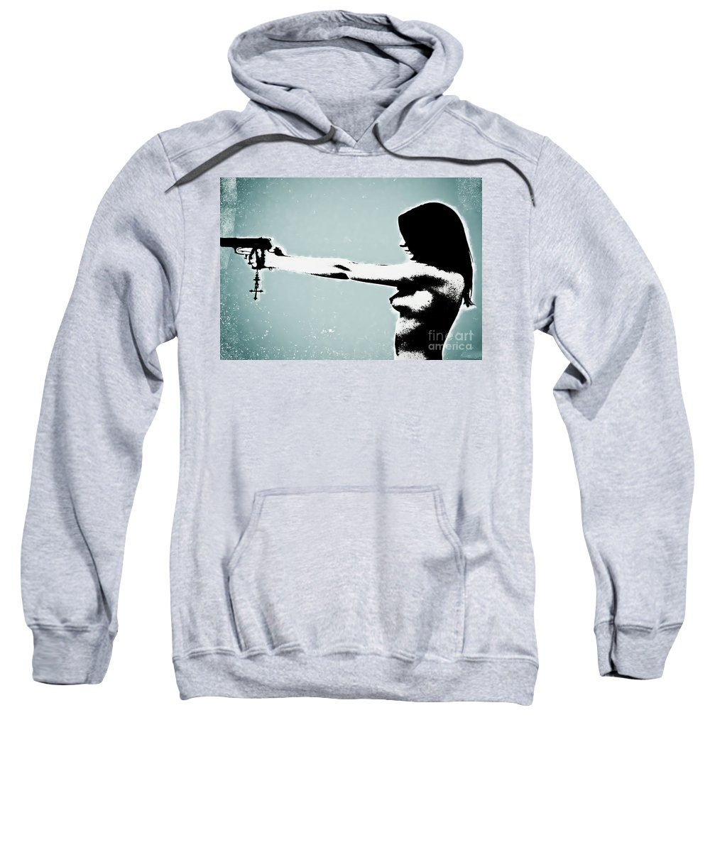 Dangerous Sweatshirt featuring the photograph Later by Digital Kulprits