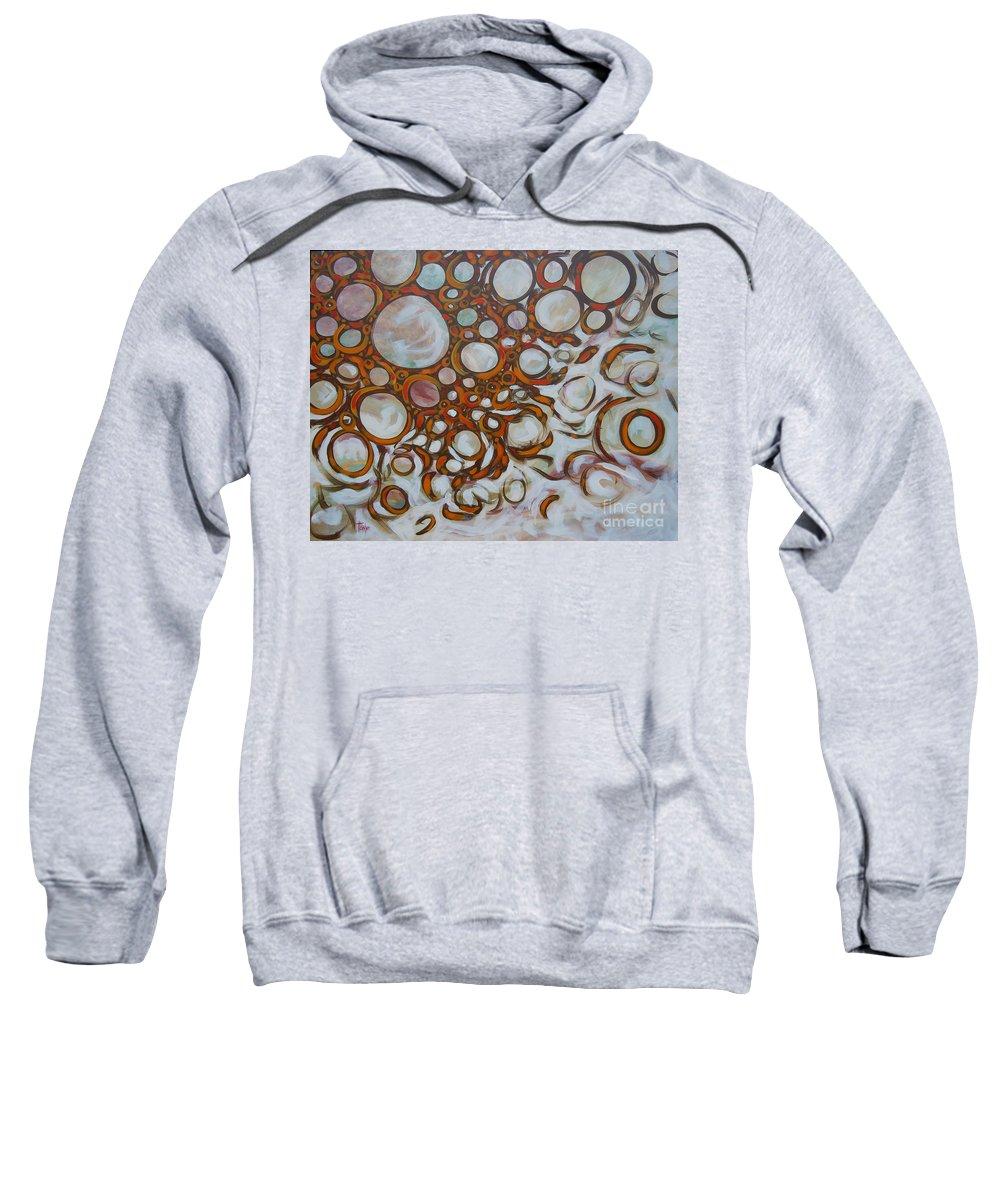 Energy Sweatshirt featuring the painting Lava Lamp Studio No.2 by Tonya Henderson