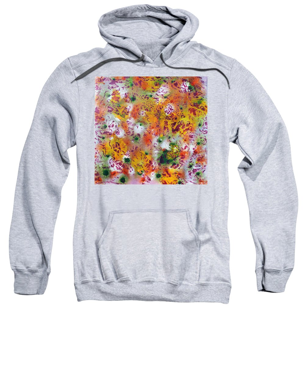 Scales Sweatshirt featuring the painting Layering 3 by Sumit Mehndiratta