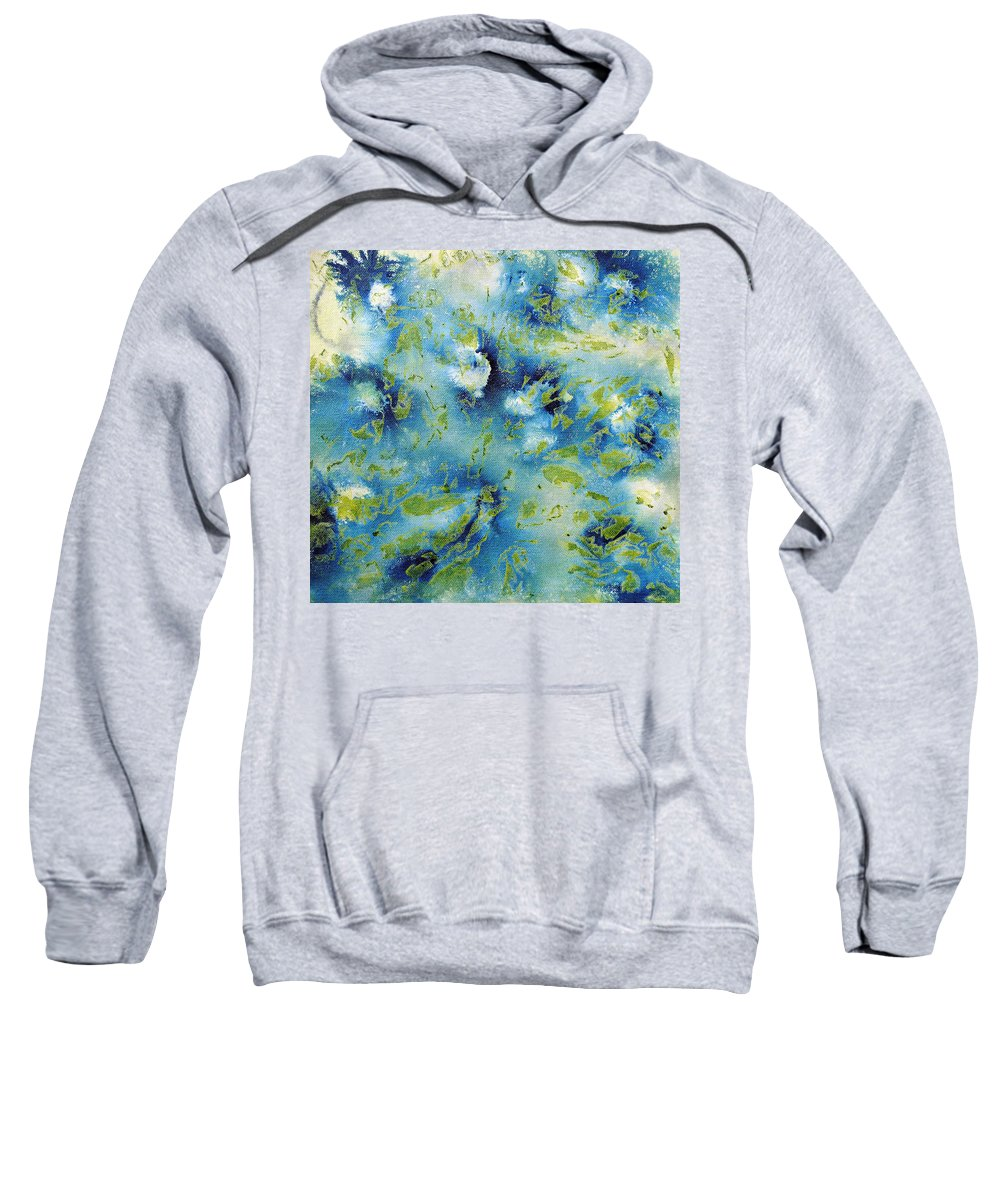 Scales Sweatshirt featuring the painting Layering 4 by Sumit Mehndiratta
