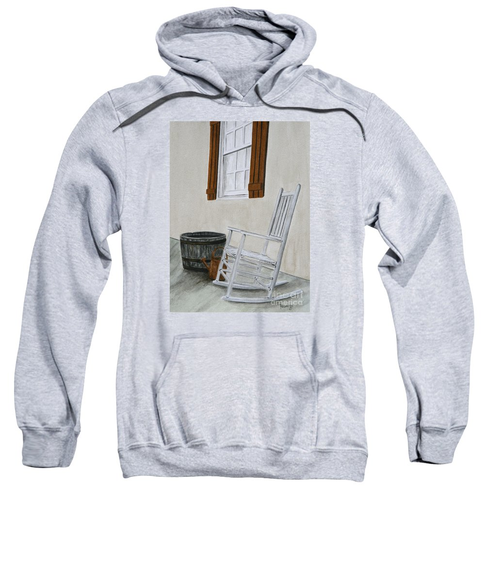 Americana Sweatshirt featuring the painting Lazy Day by Regan J Smith