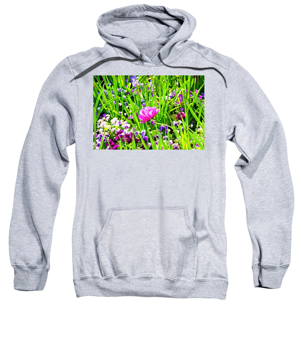 Flower Sweatshirt featuring the photograph Leaning Into The Sun by Tina Meador