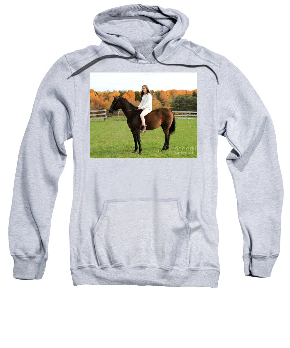 Sweatshirt featuring the photograph Leanna Abbey 17 by Life With Horses