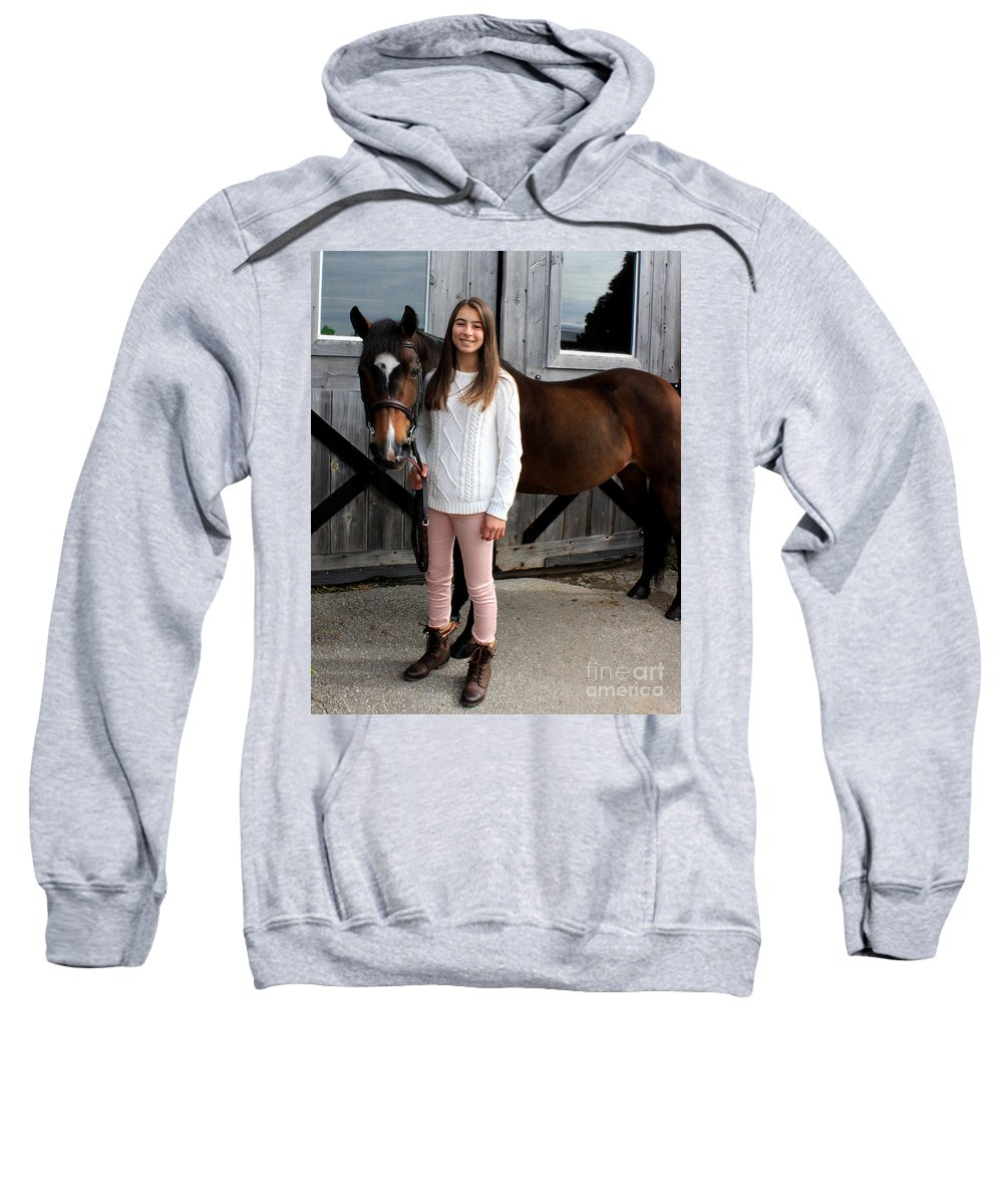 Sweatshirt featuring the photograph Leanna Abbey 7 by Life With Horses