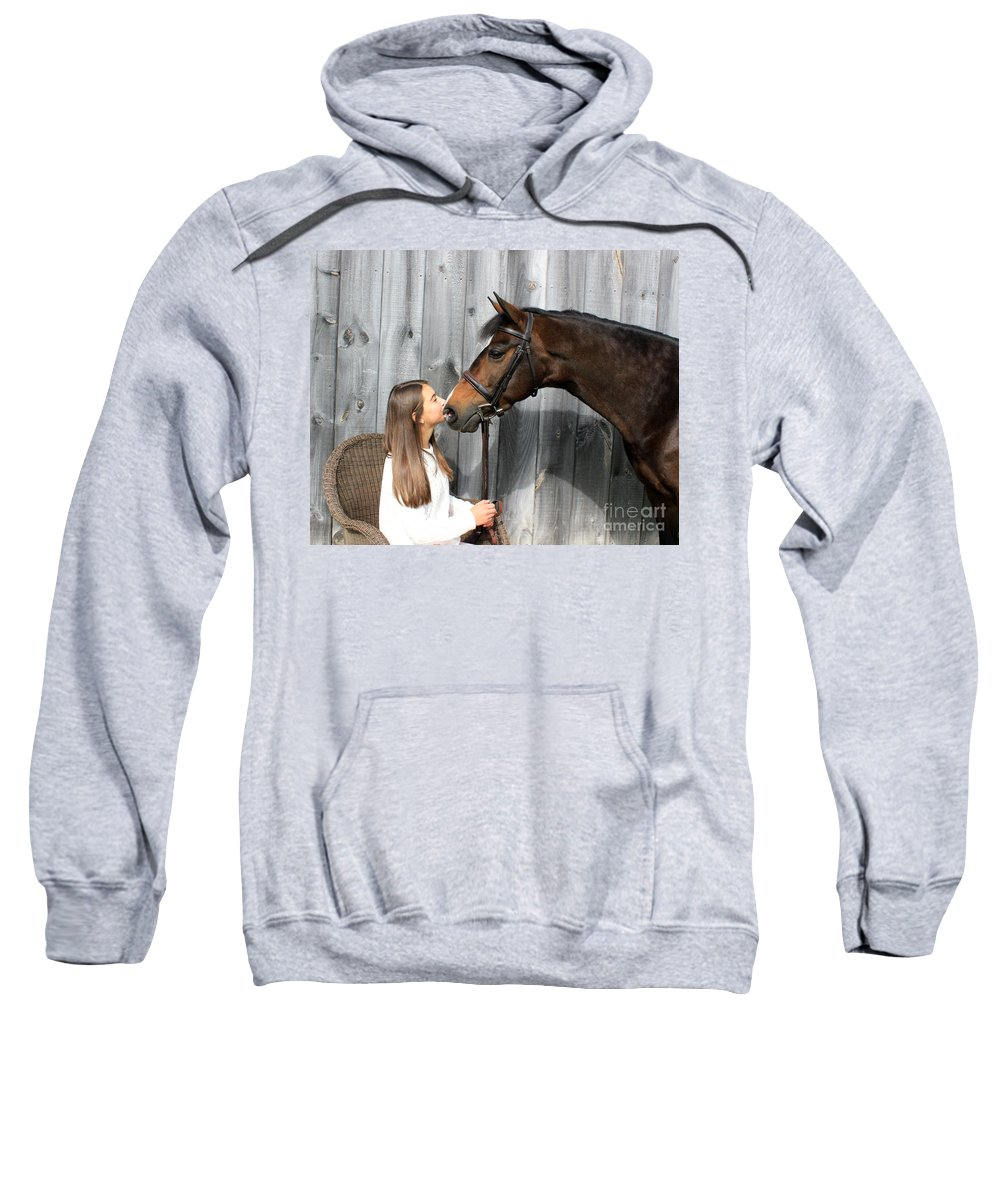 Sweatshirt featuring the photograph Leanna Abbey 8 by Life With Horses