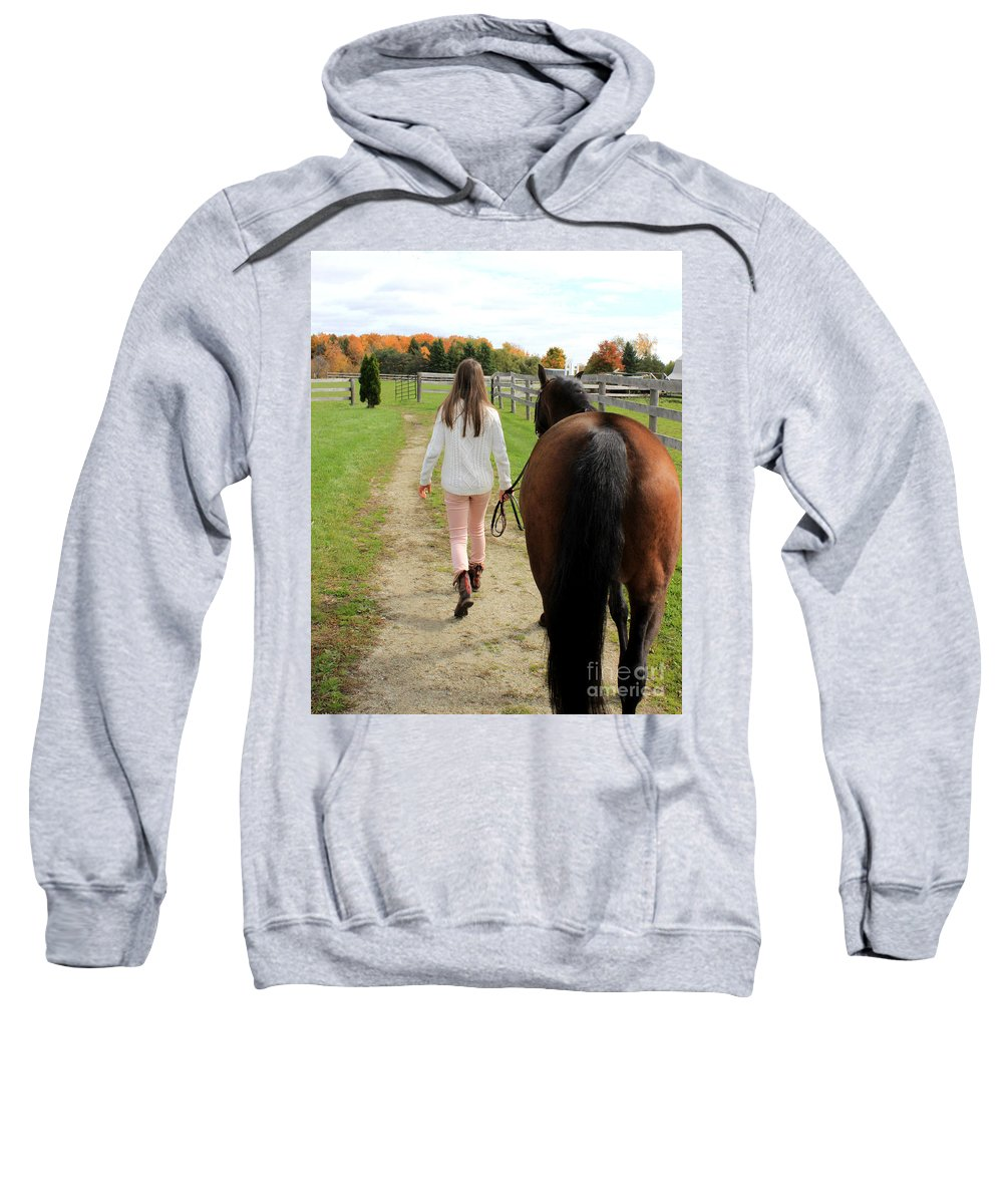 Sweatshirt featuring the photograph Leanna Abbey 9 by Life With Horses