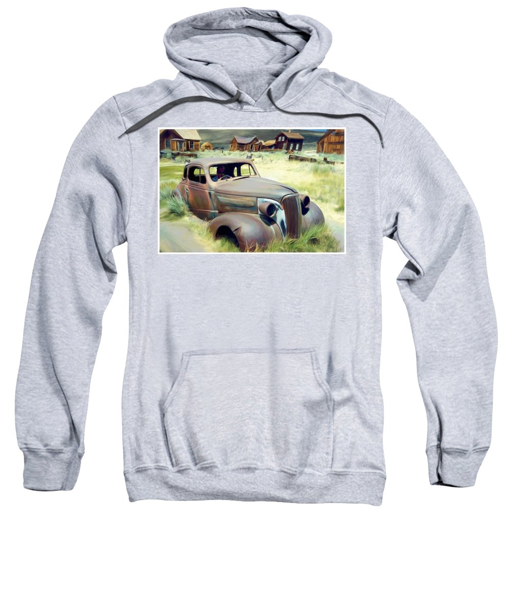 Photography Sweatshirt featuring the digital art Leaving Bodie by Snake Jagger