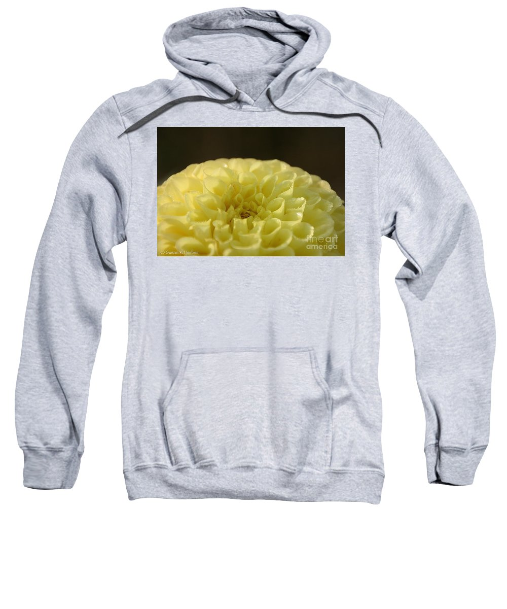 Flower Sweatshirt featuring the photograph Lemon Chiffon Daydreams by Susan Herber