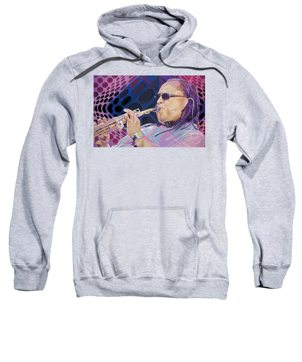 Leroi Moore Sweatshirt featuring the drawing Leroi Moore by Joshua Morton