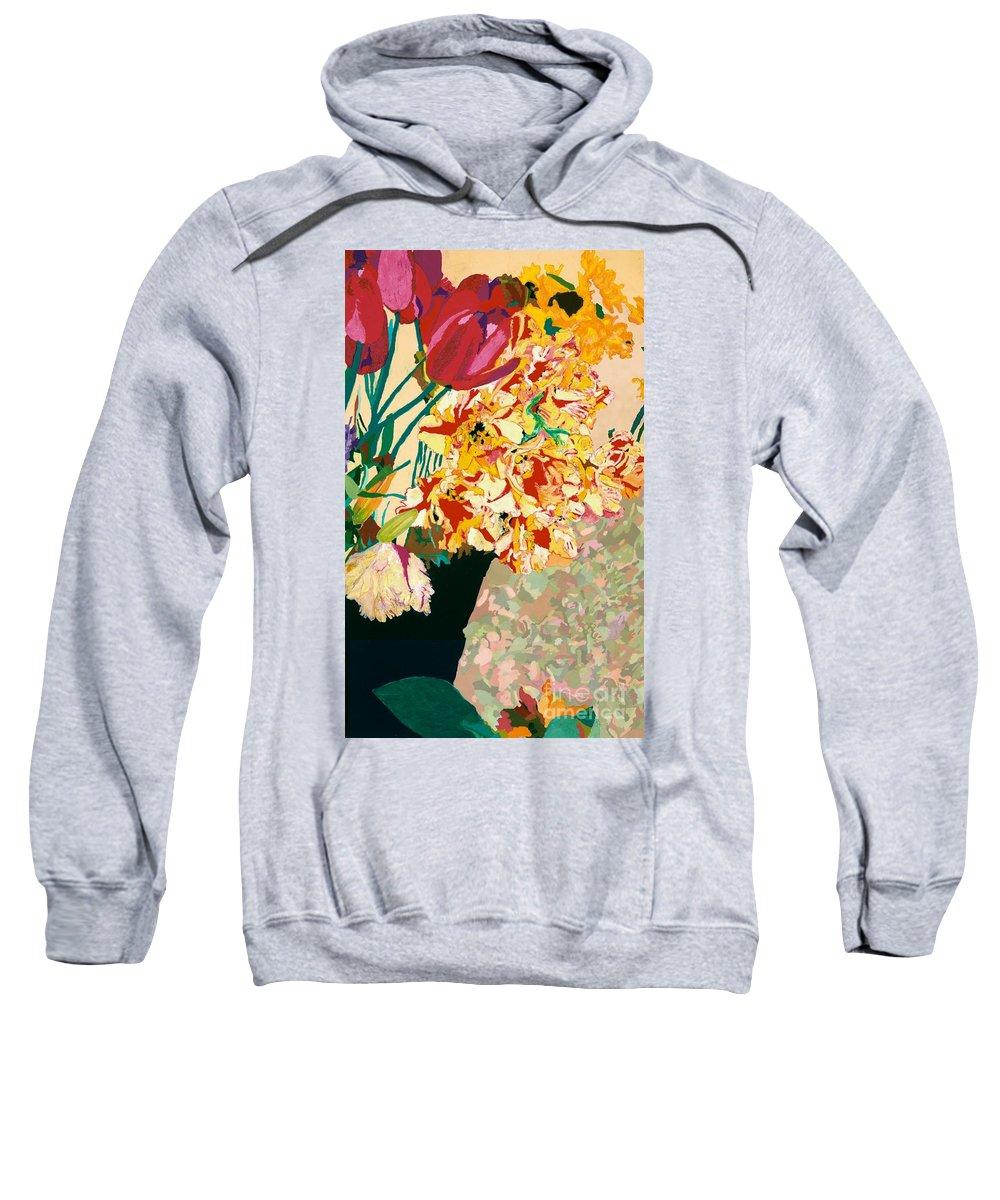 Landscape Sweatshirt featuring the painting Les Fleur by Allan P Friedlander