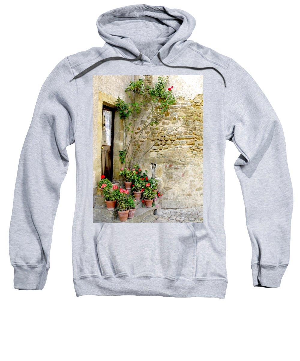 Porte De Champagne Sweatshirt featuring the photograph Levroux France Entrance by Randi Kuhne