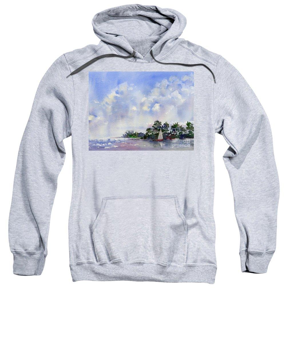 Sailing Sweatshirt featuring the painting Leeward The Island by Amy Kirkpatrick